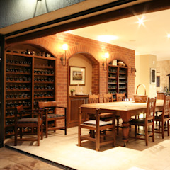 Rustic style dining room by homify Rustic Bricks
