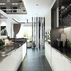 Semi Detached House - Austin Residence Johor Bahru,Malaysia Modern style kitchen by Enrich Artlife & Interior Design Sdn Bhd Modern