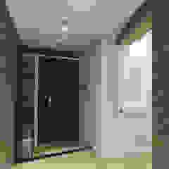 원룸도 멋진 주거공간이 될 수 있다. 인더스트리얼 복도, 현관 & 계단 by 미우가 디자인 스튜디오 인더스트리얼