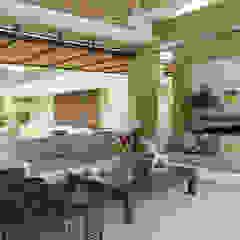 Zona social Salones de estilo moderno de NOAH Proyectos SAS Moderno Piedra