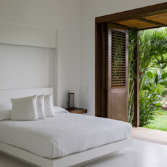 Habitación y cama en mamposteria Dormitorios de estilo moderno de NOAH Proyectos SAS Moderno