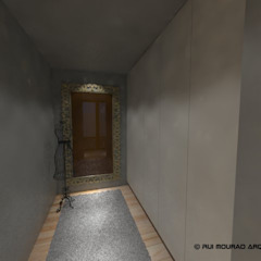Casa TBSC Closets minimalistas por RMA - Rui Mourão Arquitecto Unipessoal Lda Minimalista Betão