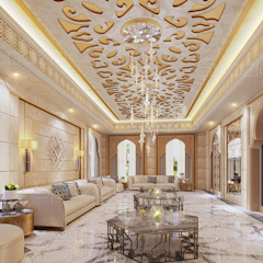 Moroccan interior design by Spazio Interior Decoration LLC Mediterranean Marble