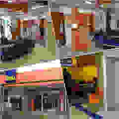 Karen Oliveira - Designer de Interiores Offices & stores Concrete Orange
