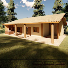 by D.O.S. Arquitetura Country لکڑی Wood effect