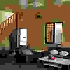 別墅客廳內裝 地興木屋有限公司 Asian style living room