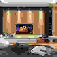 M Polonia House Ruang Media Modern Oleh Lighthouse Architect Indonesia Modern
