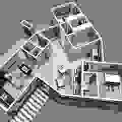 Casa Perbet Pasillos, vestíbulos y escaleras modernos de Tila Design Moderno