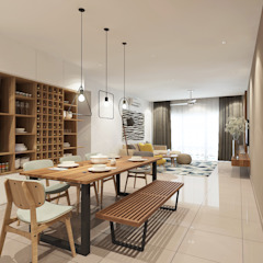 Villa Crystal II Scandinavian style dining room by Verde Design Lab Scandinavian
