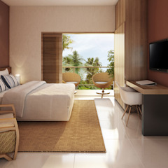 Tropical style bedroom by Mutabile Tropical