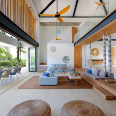 Seascape Villa Tropical style living room by Word of Mouth House Tropical