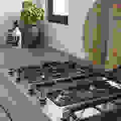 Cocinas de estilo escandinavo de Molitli Interieurmakers Escandinavo Madera Acabado en madera