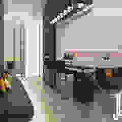 Minimalist design apartment Minimalist corridor, hallway & stairs by dal design office Minimalist