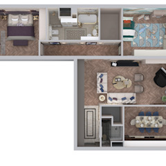 Квартира на острове Балчуг от Инна Азорская Классический