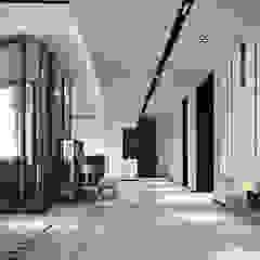 Penthouse Modern corridor, hallway & stairs by Norm designhaus Modern