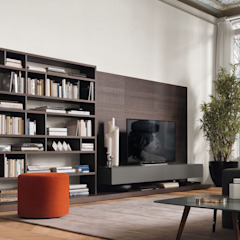 wandmeubel met achterwand: modern  door Kroneman Interieurs, Modern Hout Hout