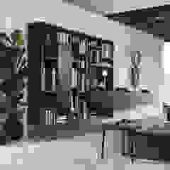 wandkast met open en gesloten delen: modern  door Kroneman Interieurs, Modern Hout Hout