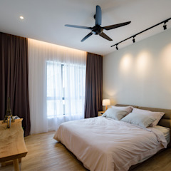 NAUTICA LAKESUITES CONDOMINIUM , KL Scandinavian style bedroom by BND STUDIO Scandinavian