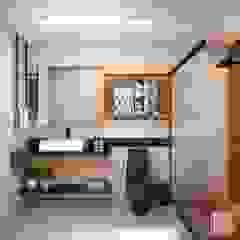 Baños de estilo moderno de Laura Mueller Arquitetura + Interiores Moderno Madera Acabado en madera
