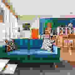 Interieurplan voor een zithoek in Oegstgeest Eclectische woonkamers van Regina Dijkstra Design Eclectisch