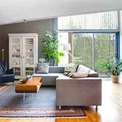 Interieurplan voor een woonkamer in Oegstgeest Eclectische woonkamers van Regina Dijkstra Design Eclectisch