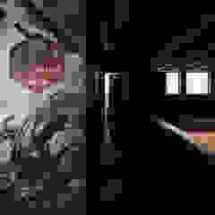 Kalorias crossbox | Reconverção de uma oficina em box de crossfit Espaços comerciais industriais por Estúdio AMATAM Industrial