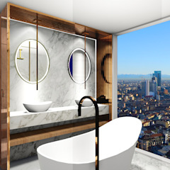Banheiro Clean Contemporâneo Banheiros minimalistas por Studio² Minimalista