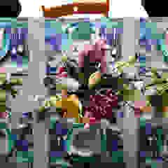 Interieurplan voor een woonkamer en eethoek in Oegstgeest Eclectische eetkamers van Regina Dijkstra Design Eclectisch