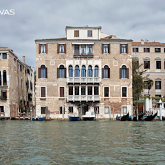 Reabilitação de Palácio em Veneza por CHUVAS arquitectura Clássico Tijolo