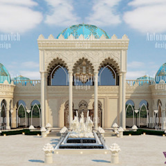 ​The restaurant architectural design by Katrina Antonovich Asian style houses by Luxury Antonovich Design Asian