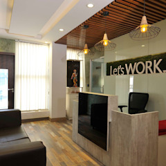 Let's Work - Coworking Space in Noida Eclectic style offices & stores by FYD Interiors Pvt. Ltd Eclectic