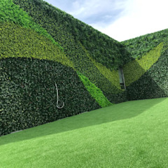 Guatemala Client's Artificial vertical garden project with SUNWING artificial hedges by Sunwing Industries Ltd Tropical Plastic
