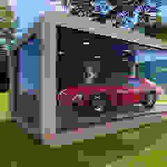 CAR CUBE Moderne autodealers van CUBE Homes Modern Hout Hout