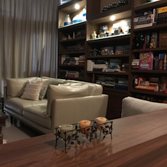 RENOVATED LIVING/DINING Mediterranean style living room by FINE ART LIVING PTE LTD Mediterranean Plywood