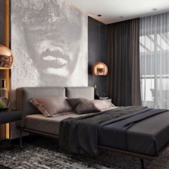 Industrial meets modern Modern style bedroom by Adore Design Modern