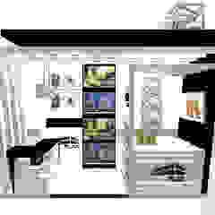 STAND FLAT - FERIA de Karla Alvarez - Arquitectura de Interiores Moderno Aglomerado