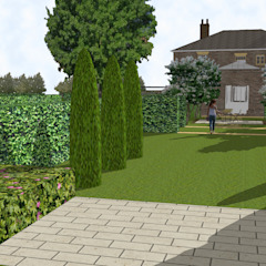 Hertfordshire Country Estate Garden (Braughing) توسط Aralia کلاسیک نی/ بامبو Green