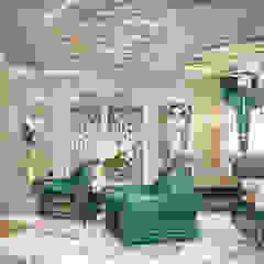 Asiatische Wohnzimmer von студия Design3F Asiatisch