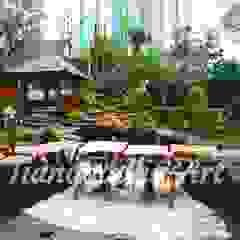 Kolam Ikan Koi dan Tebing Dekorasi || Tukang Taman Surabaya - Tianggadha-Art Oleh Tukang Taman Surabaya - Tianggadha-art Tropis Batu
