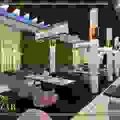 تصميم مقاهي من Bazzar Design حداثي