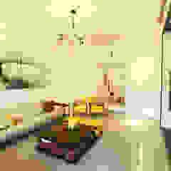 摩登時尚 现代客厅設計點子、靈感 & 圖片 根據 大漢創研室內裝修設計有限公司 現代風 塑木複合材料