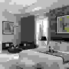 A.BORNACELLI Modern Bedroom Concrete White