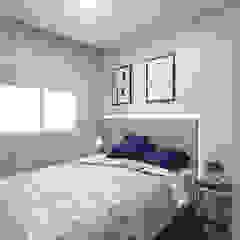 Estúdio j2G| Arquitetura & Engenharia Minimalistische slaapkamers Houtcomposiet Grijs