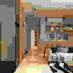 Arcoris Mont Kiara Mediterranean corridor, hallway & stairs by Norm designhaus Mediterranean