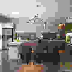 現代廚房設計點子、靈感&圖片 根據 AVA Architecture 現代風