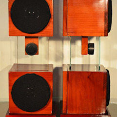 Flotante: Ideal para ambientar espacios pequeños de D-fi Sound Clásico Madera Acabado en madera