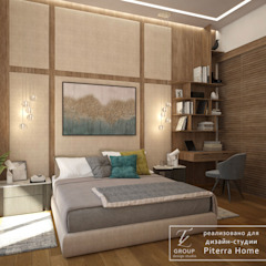 DM Montferran Egzotyczna sypialnia od Design studio TZinterior group Egzotyczny