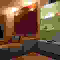 Apartamento T5 - Barra da Tijuca - Rio de Janeiro Salas multimédia ecléticas por Renata Esbroglio Arquitetura Eclético