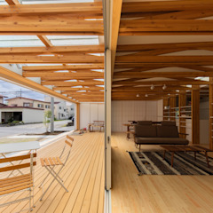 『縁側の家』 モダンスタイルの 温室 の インデコード design office モダン