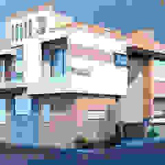 Modern Residence (40x60 ) in Jodhpur RAVI - NUPUR ARCHITECTS Villas Stone White
